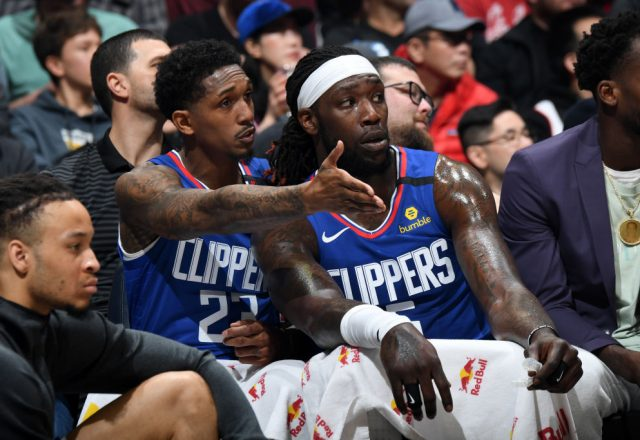 Lou Williams, Montrezl Harrell of the Los Angeles Clippers