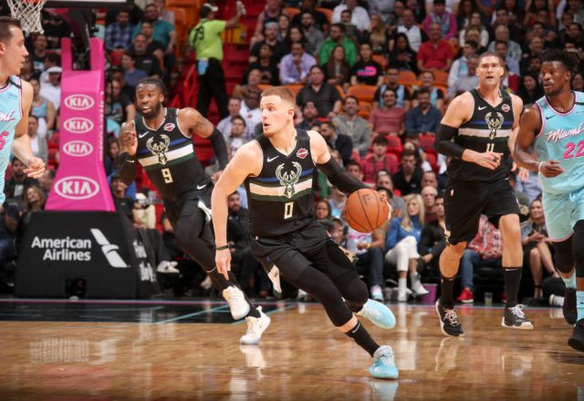 Donte DiVincenzo of the Milwaukee Bucks