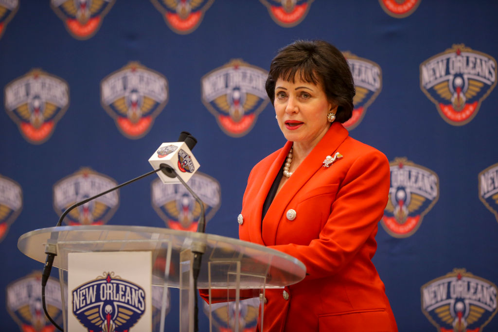 Gayle Benson of the New Orleans Pelicans