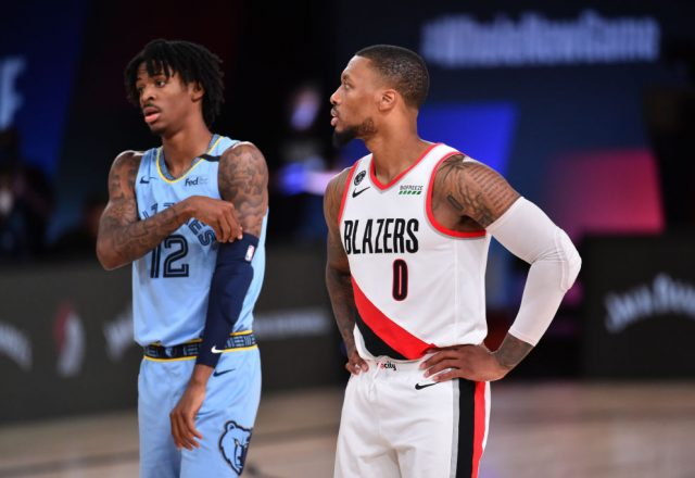 Ja Morant of the Memphis Grizzlies, Damian Lillard of the Portland Trail Blazers