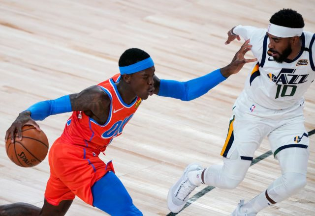 Dennis Schroder of the Oklahoma City Thunder