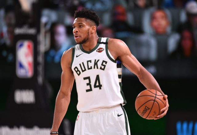 Giannis Antetokounmpo of the Milwaukee Bucks