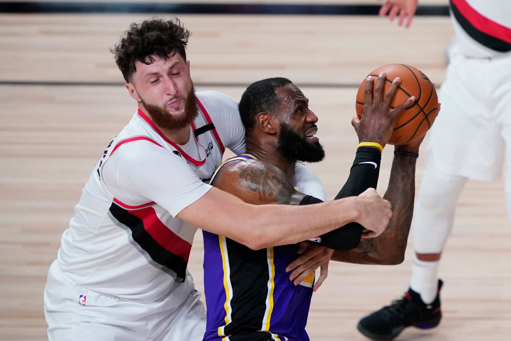 LeBron James of the Los Angeles Lakers
