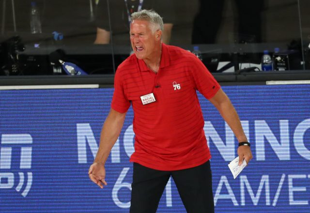 Brett Brown of the Philadelphia 76ers