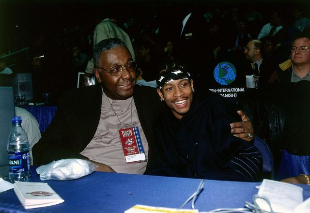 John Thompson and Allen Iverson