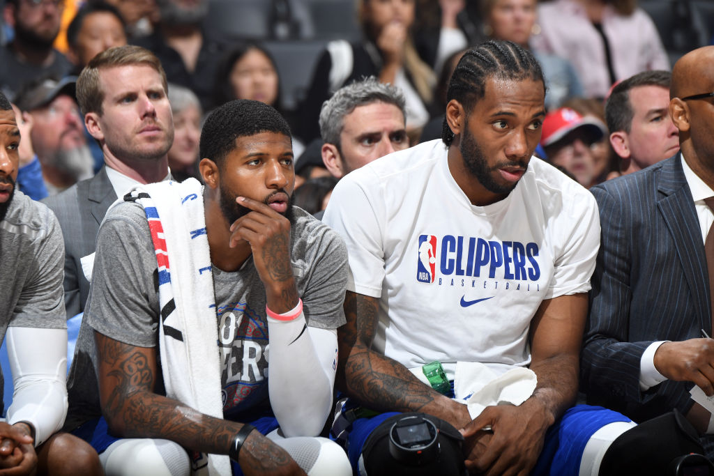 Paul George and Kawhi Leonard of the Los Angeles Clippers