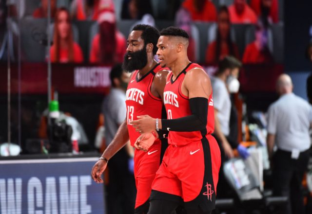 James Harden and Russell Westbrook of the Houston Rockets