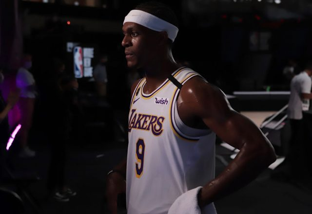 Rajon Rondo of the Los Angeles Lakers