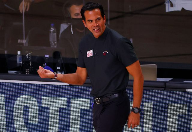Erik Spoelstra of the Miami Heat