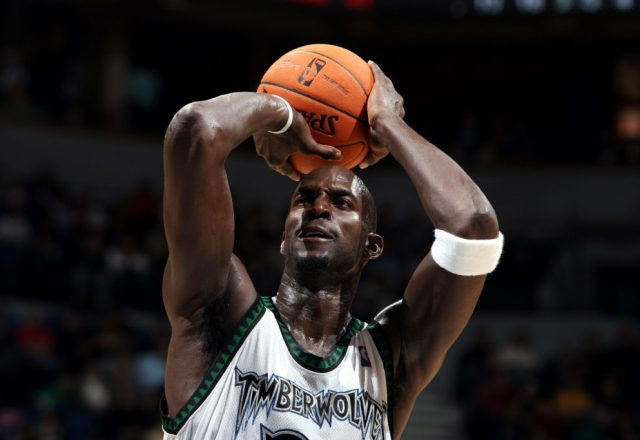 Kevin Garnett of the Minnesota Timberwolves