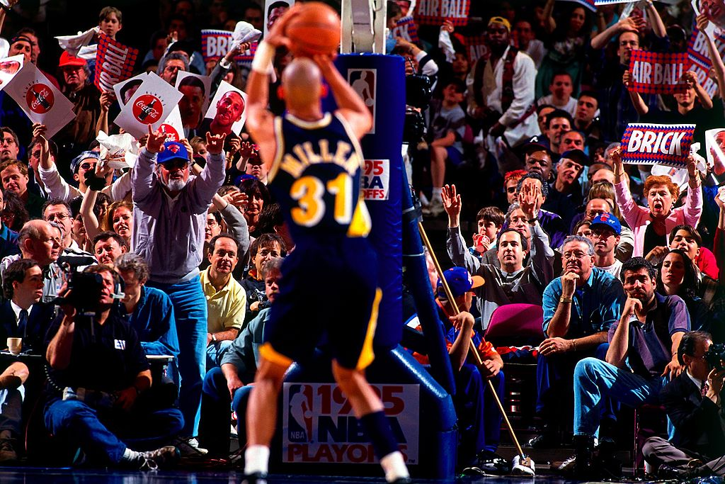 Reggie Miller of the Indiana Pacers