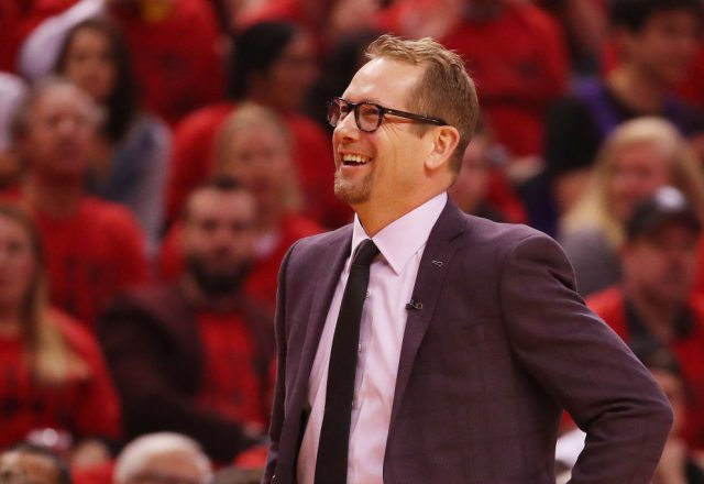 Nick Nurse of the Toronto Raptors