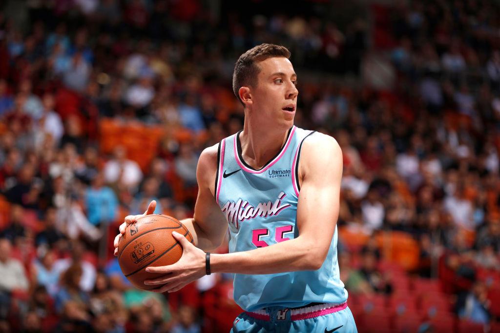 Duncan Robinson of the Miami Heat