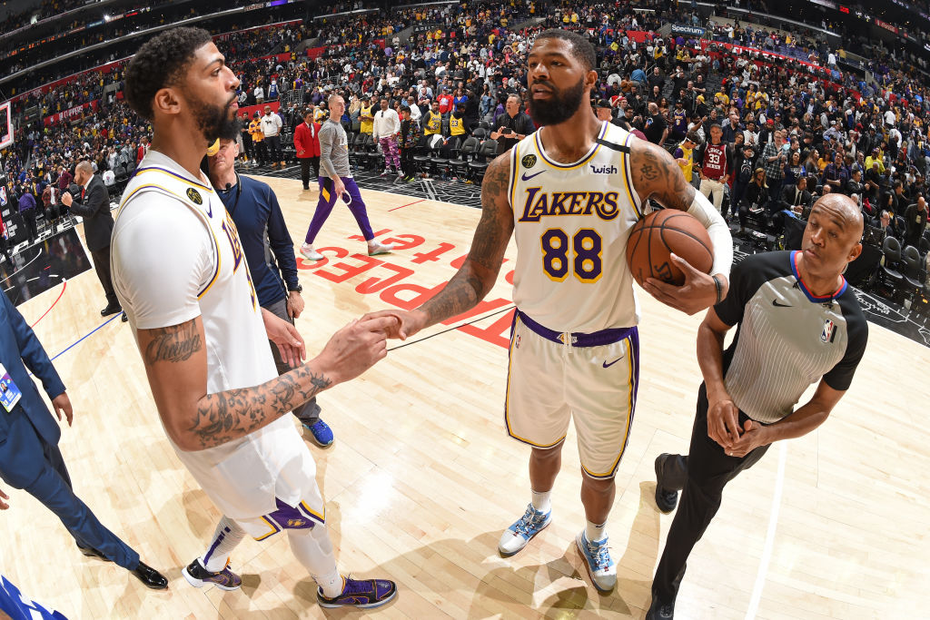 Anthony Davis of the Los Angeles Lakers
