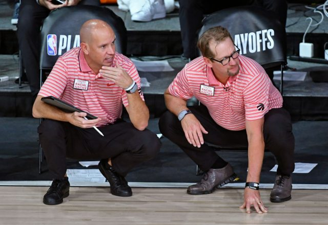 Nate Bjorkgren, Nick Nurse of the Toronto Raptors