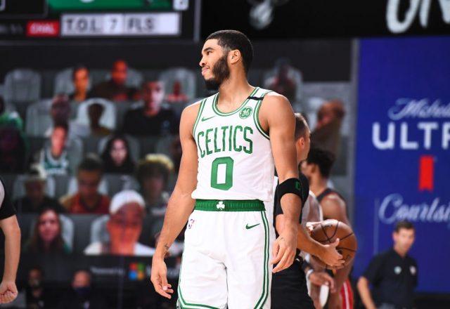 Jayson Tatum of the Boston Celtics