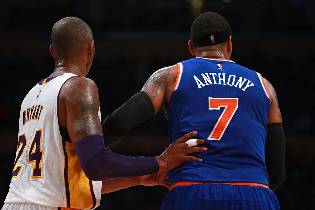 Kobe Bryant of the Los Angeles Lakers, Carmelo Anthony of the New York Knicks