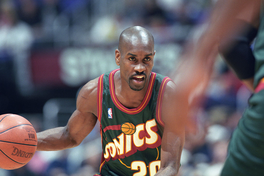 Gary Payton of the Seattle SuperSonics