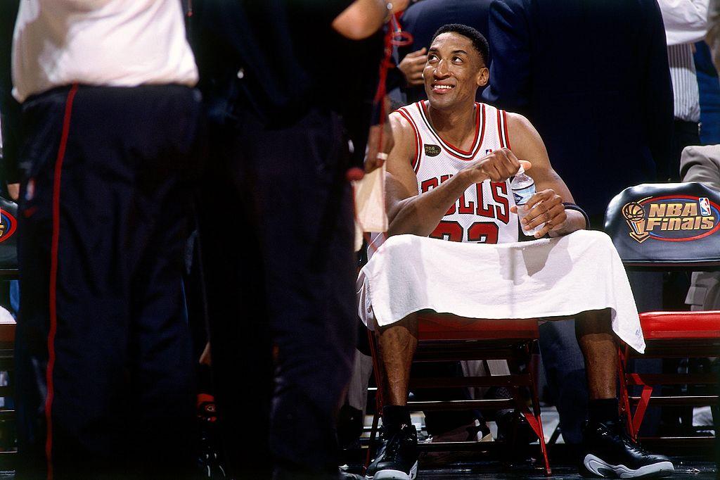 Scottie Pippen of the Chicago Bulls