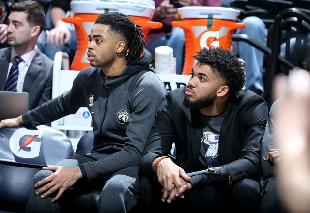 d'angelo russell karl-anthony towns
