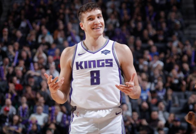 Bogdan Bogdanovic of the Sacramento Kings