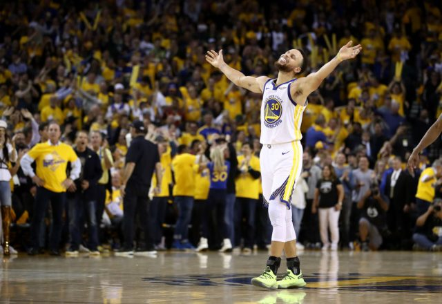 Steph Curry of the Golden State Warriors