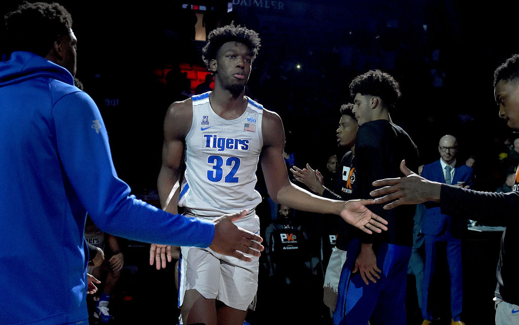 James Wiseman of the Memphis Tigers