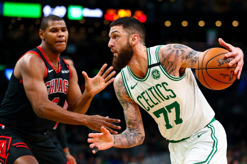 Vincent Poirier of the Boston Celtics