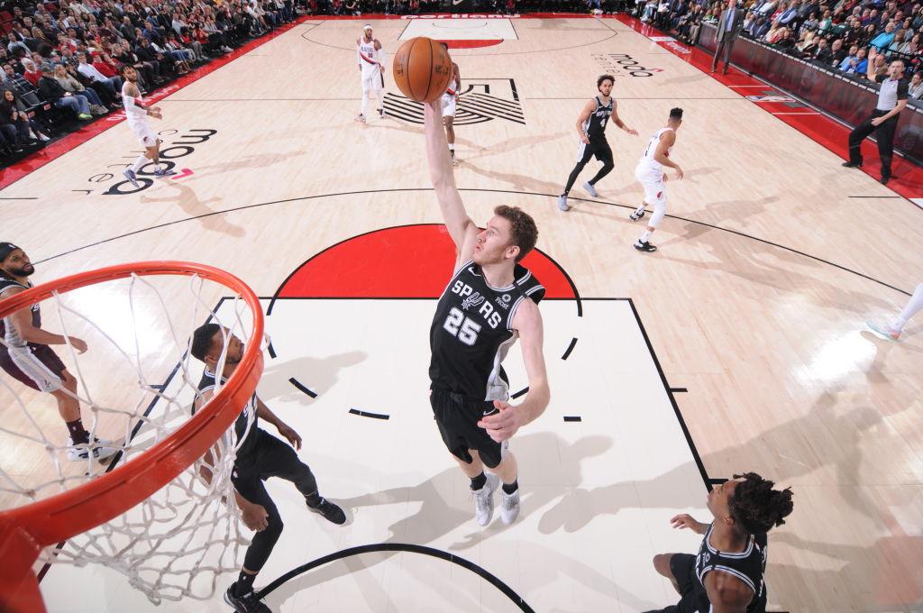Jakob Poeltl of the San Antonio Spurs