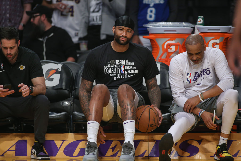 DeMarcus Cousins of the Los Angeles Lakers