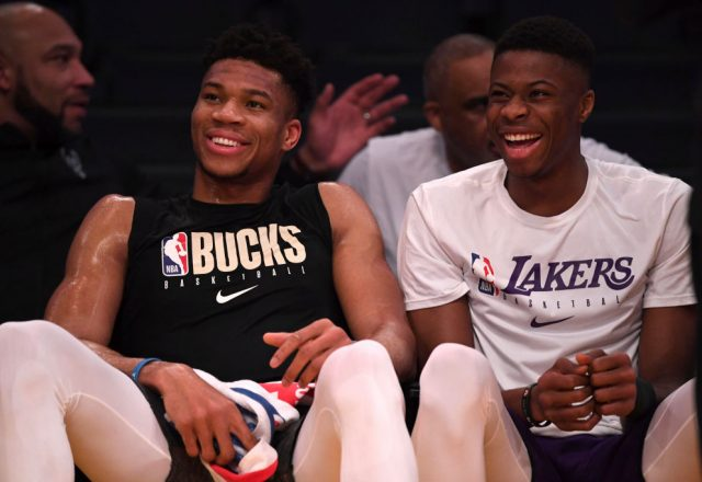 Kostas Antetokounmpo of the Los Angeles Lakers
