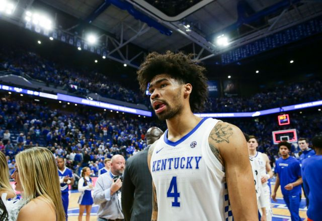 Nick Richards of the Kentucky Wildcats