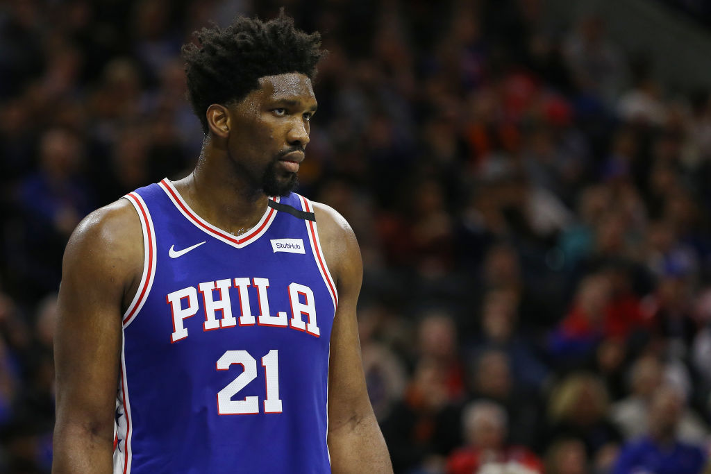 Joel Embiid of the Philadelphia 76ers