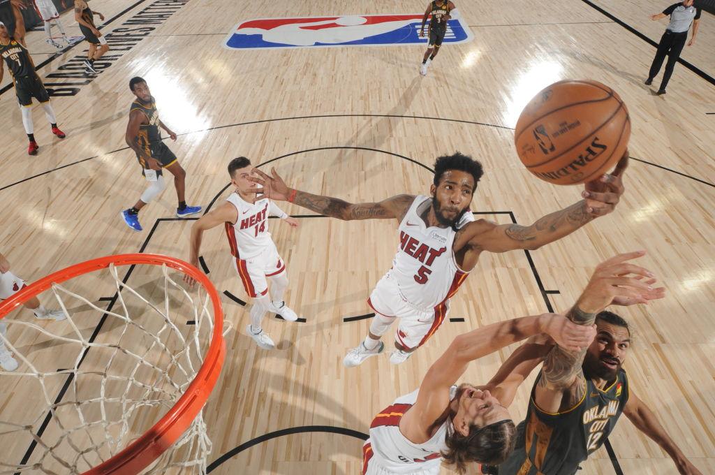 Derrick Jones Jr. of the Miami Heat