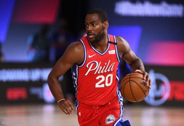 Alec Burks of the Philadelphia 76ers