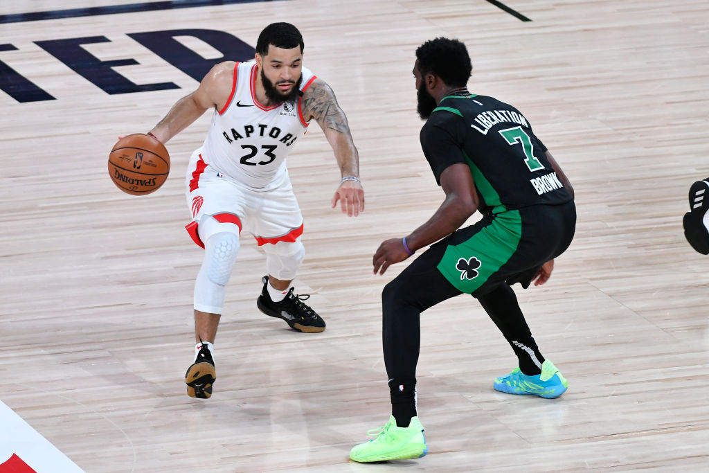 Fred Van Vleet of the Toronto Raptors