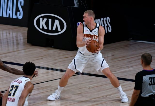 Mason Plumlee of the Denver Nuggets