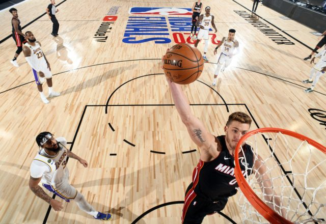 Meyers Leonard of the Miami Heat