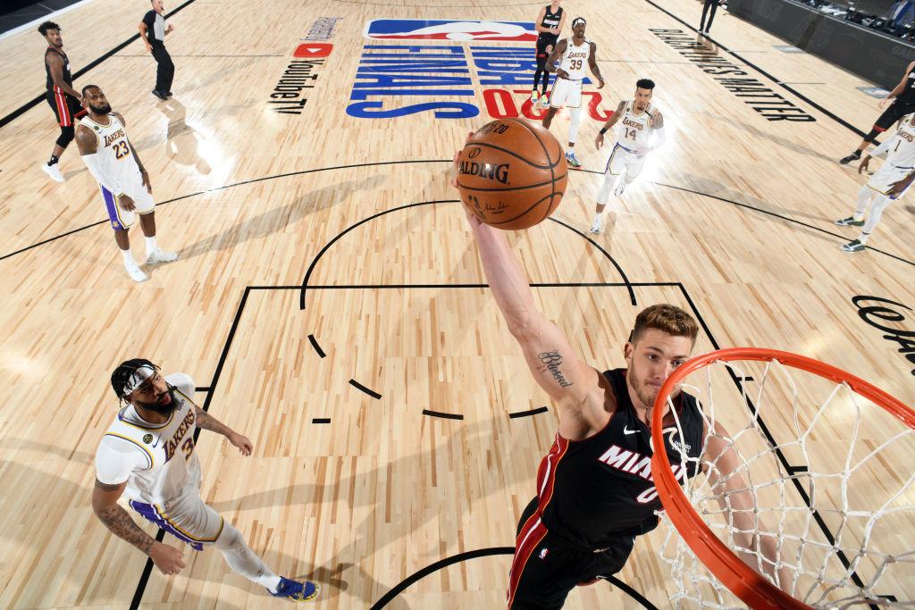 Meyers Leonard of the Miami Heat