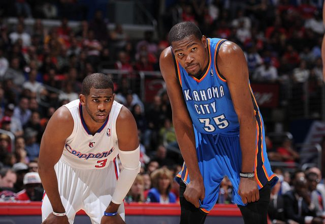 Chris Paul of the Los Angeles Clippers, Kevin Durant of the Oklahoma City Thunder