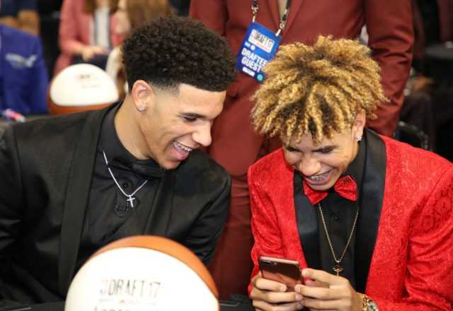 Lonzo Ball and LaMelo Ball