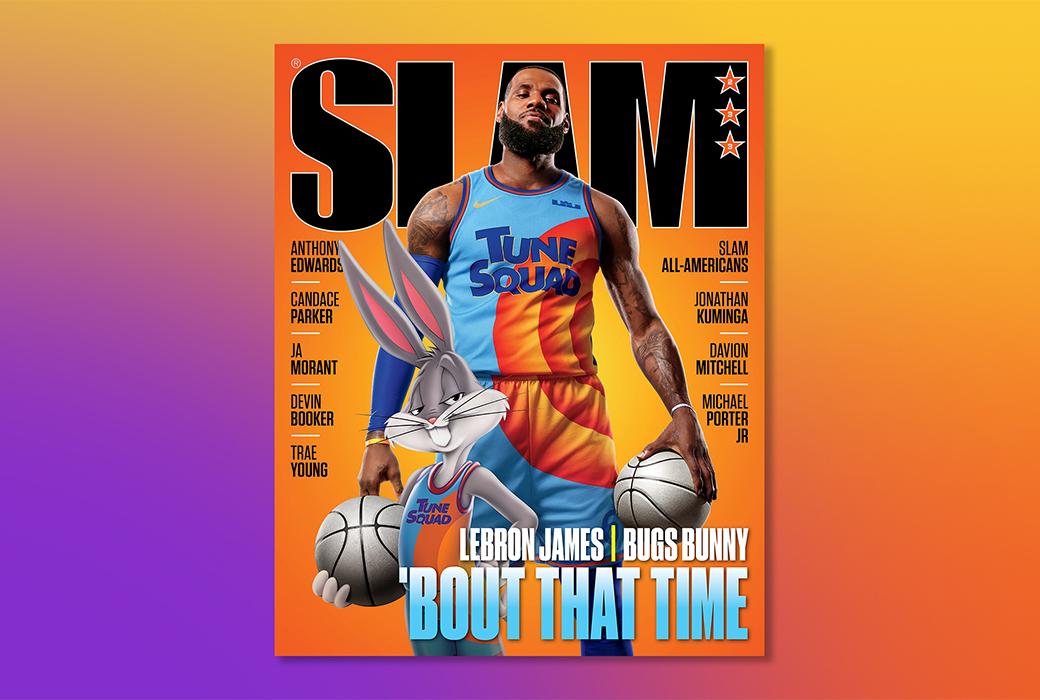 LeBron James and Bugs Bunny Cover SLAM 233   SLAM